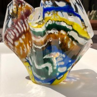 Coral Reef Vase No. 3  Fused Glass